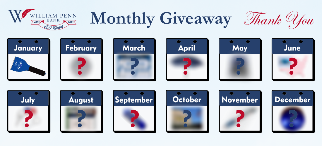 150 Years Monthly Giveaway