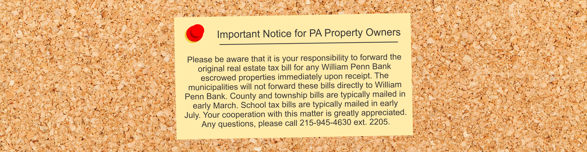 Important Notice for PA Property Owners