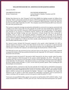 Press Release 1-30-2020