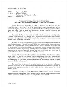 Press Release 9-16-20